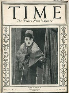 First actor to appear on the cover of Time magazine.