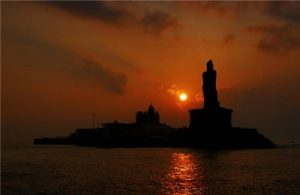 Kanyakumari-Sunrise,Sunset,Sunrise & Sunset Point,India
