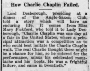 Lost the Charlie Chaplin Imitation challenge